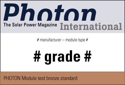 Sample test seal PHOTON Bronze Standard