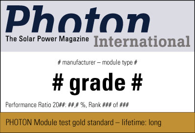 Sample test seal PHOTON Gold Standard
